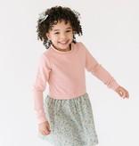 Thimble Thimble Classic Sweatshirt Dress in Rose Fleurs