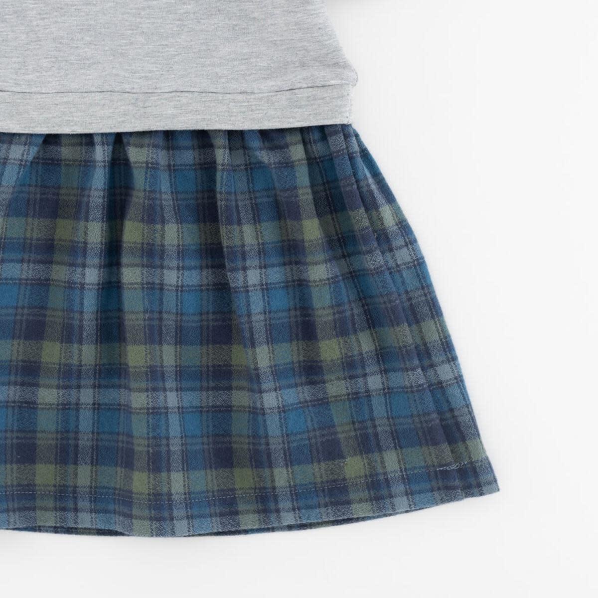 Thimble Thimble Funnel Sweatshirt Dress in Schoolhouse Plaid