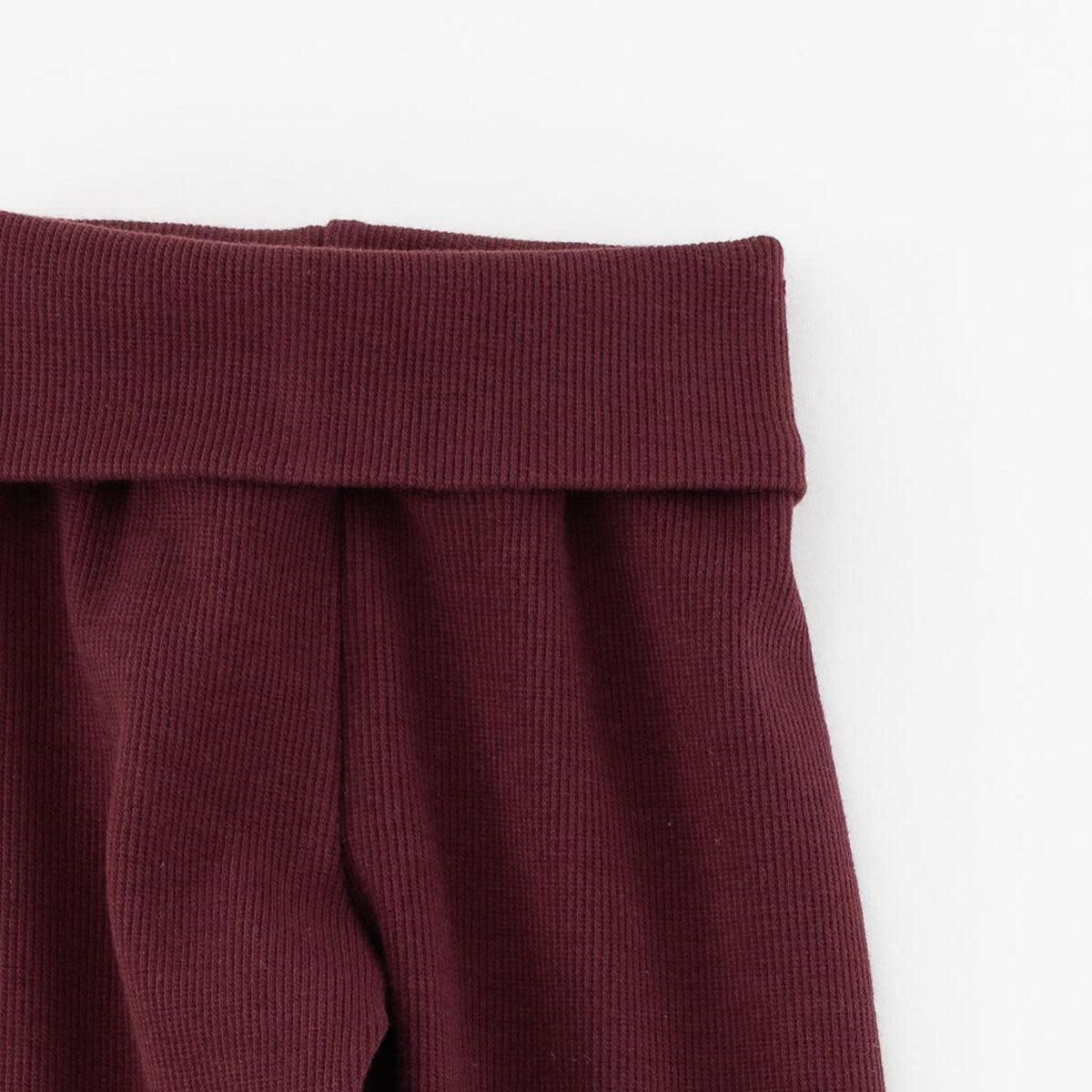 Thimble Thimble Legging Pant in Organic Ribbed Garnet