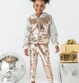Lola & the Boys Lola & the Boys Goldie Flip Sequin Pant Set