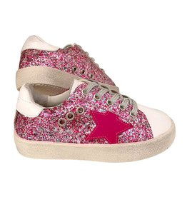 Lola & the Boys Lola & the Boys Hot Pink Glitter Star Sneakers