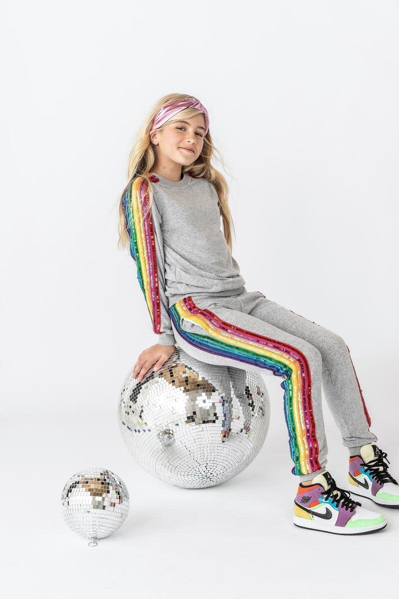 Lola & the Boys Lola & the Boys Sequin Rainbow Tracksuit Set