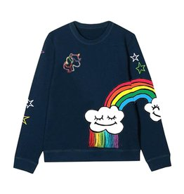 Lola & the Boys Lola & the Boys Smiley Cloud Rainbow Sweatshirt
