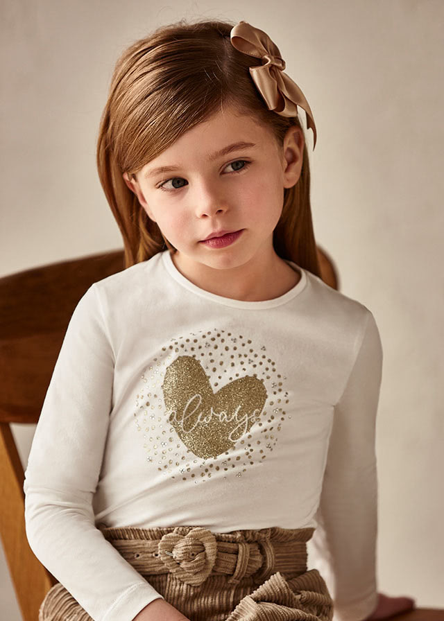 Mayoral Mayoral Gold Heart Tee