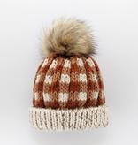 Huggalugs Huggalugs Sienna Buffalo Check Pom Pom Beanie Hat
