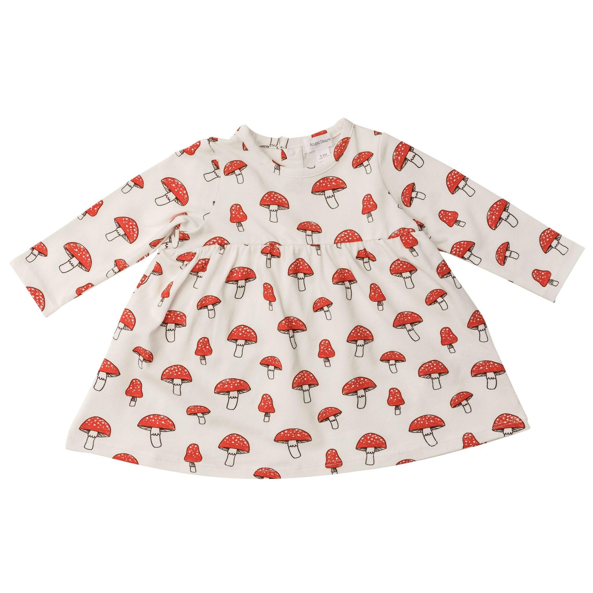 Angel Dear Angel Dear Mushrooms Simple Dress and Bloomer