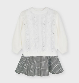 Mayoral Mayoral Dress & Sweater Set