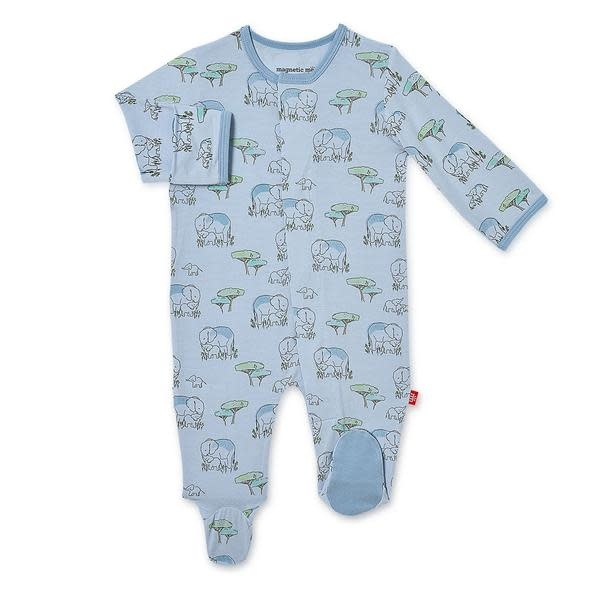 Magnificent Baby Magnetic Me Love You a Ton Modal Footie