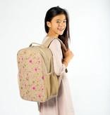 So Young  Fuchsia + Gold Splatter Grade School Backpack
