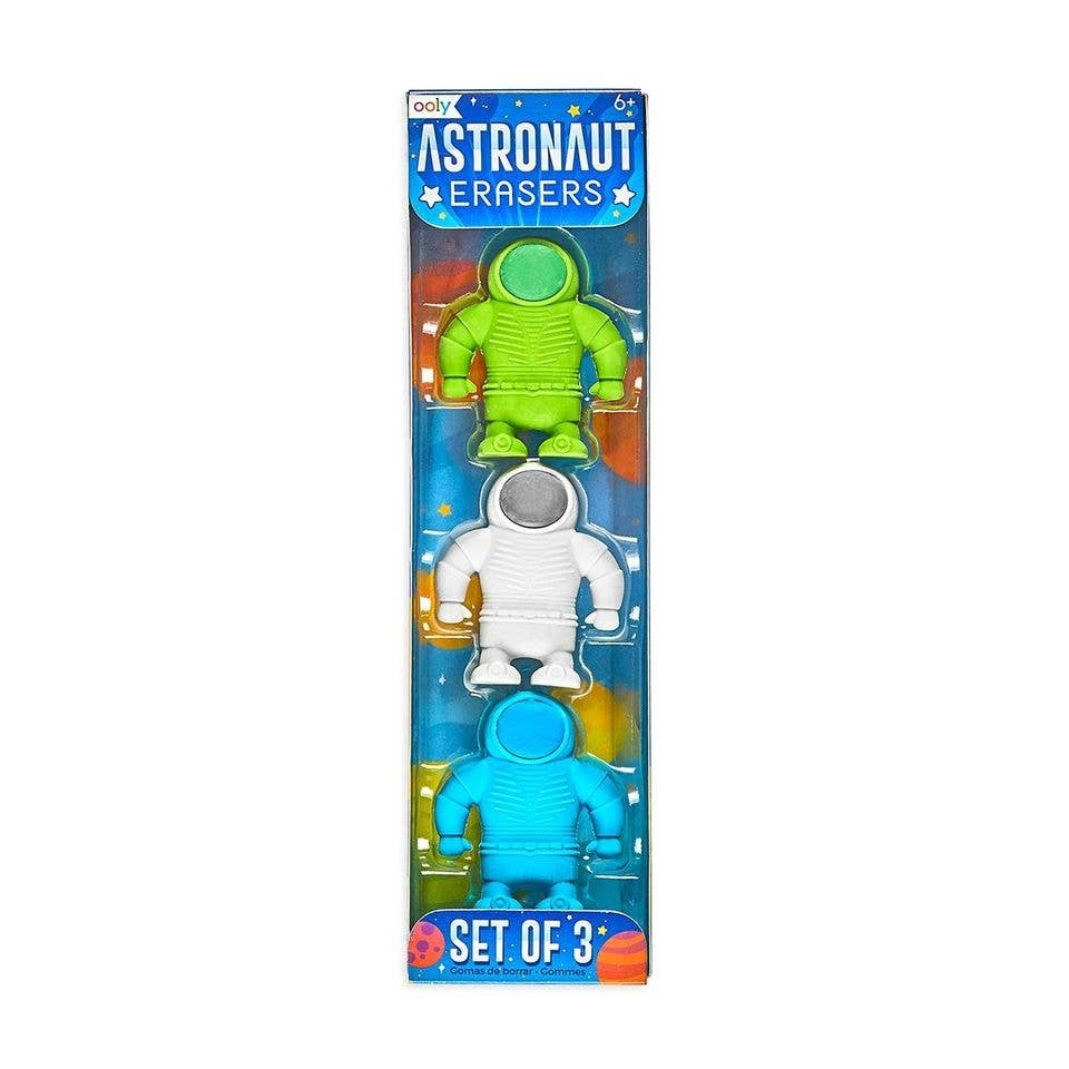 ooly Ooly Astronaut Erasers - Set of 3
