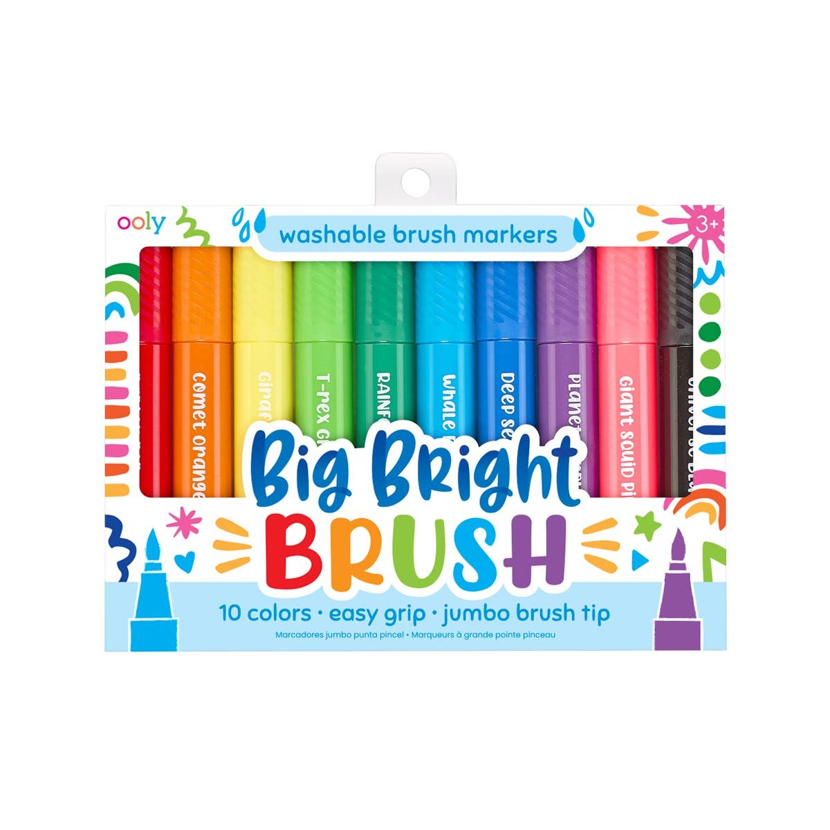 ooly Ooly Big Bright Brush Markers - set of 10
