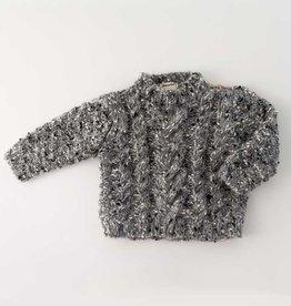 Huggalugs Huggalugs Tweed Button Shoulder Sweater