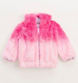 Splendid Splendid Dip Dye Faux Fur Coat