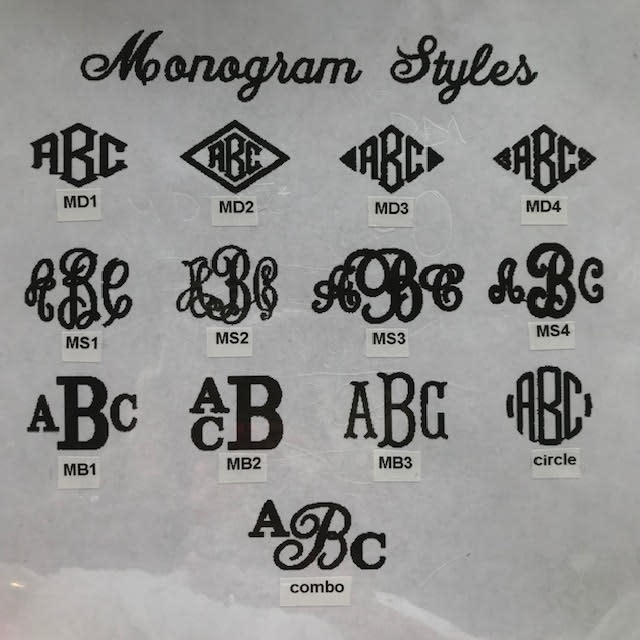 Personalized Monogram on Item