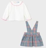 Mayoral Mayoral Plaid Skirt Set