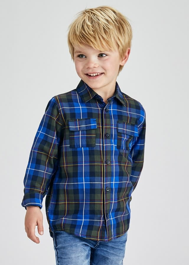 Mayoral Mayoral Plaid Button Down Shirt