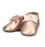 Zutano Zutano Metallic  Leather Bow Moccasins