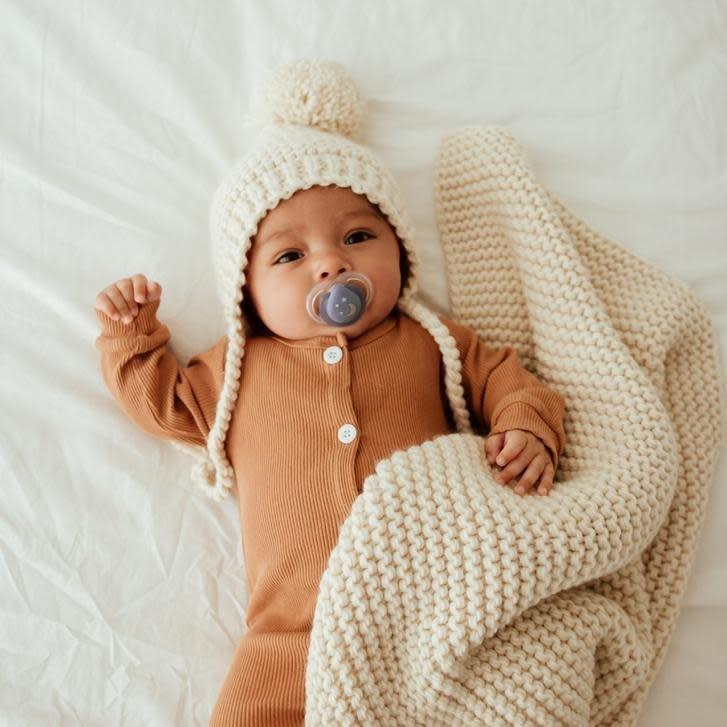 Huggalugs Huggalugs Garter Stitch Knit Bonnet