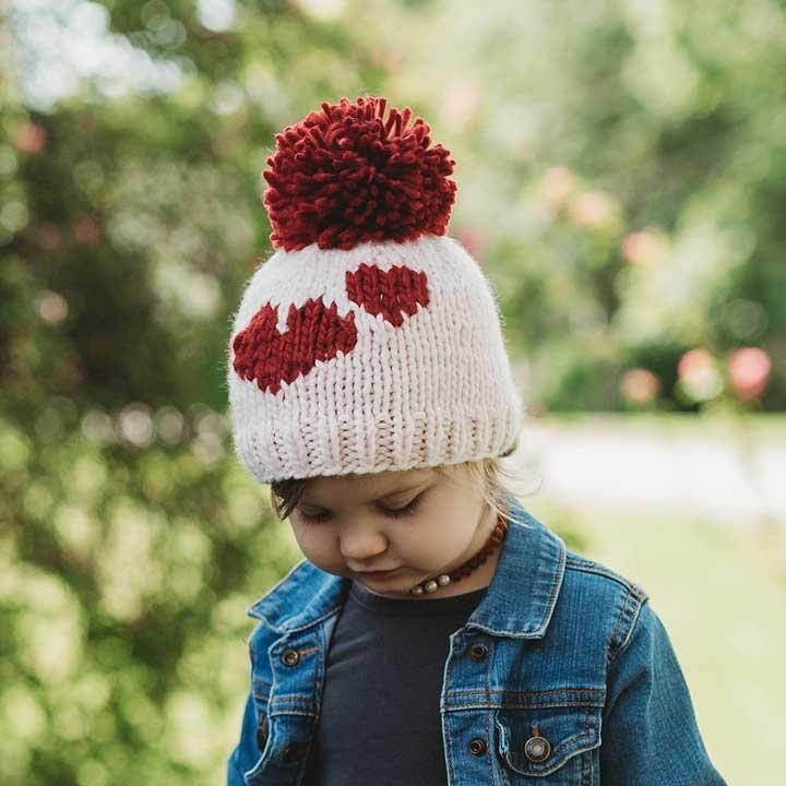 Huggalugs Huggalugs Sweetheart Knit Beanie Hat