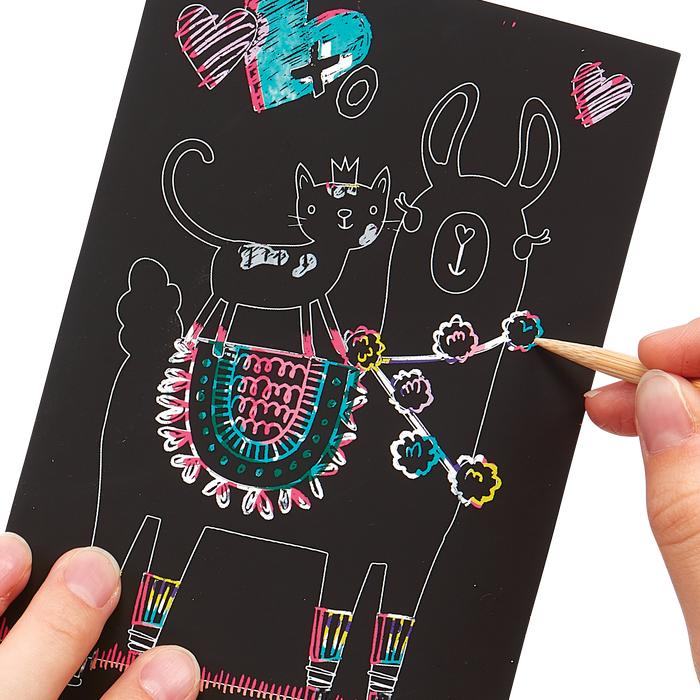 ooly Ooly Mini Scratch & Scribble Art Kit: Funtastic Friends