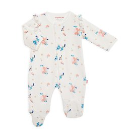 Magnificent Baby Magnetic Me Notting Hill Velour Magnetic Footie