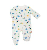 Magnificent Baby Magnetic Me Space Chase Velour Magnetic Footie