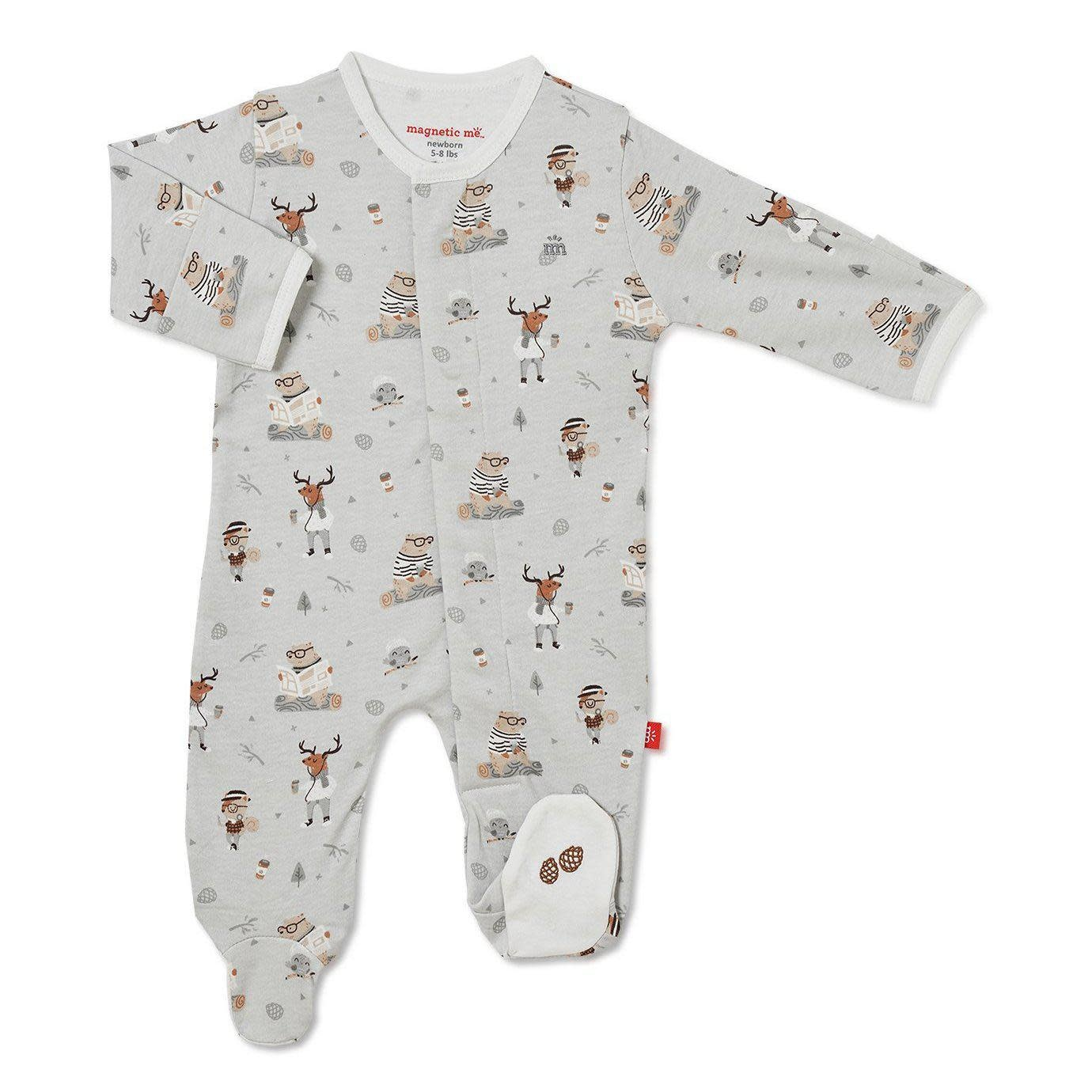 Magnificent Baby Magnetic Me Perfect  Sunday Organic Cotton Magnetic Footie