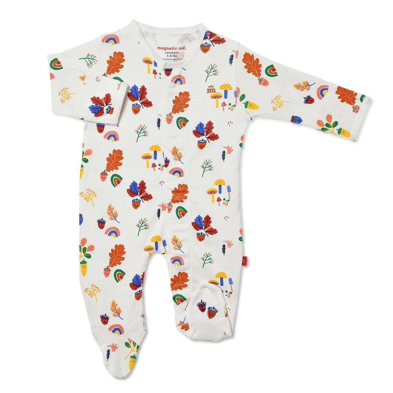 Magnificent Baby Magnetic Me Happy  Harvest Organic Cotton Magnetic Footie