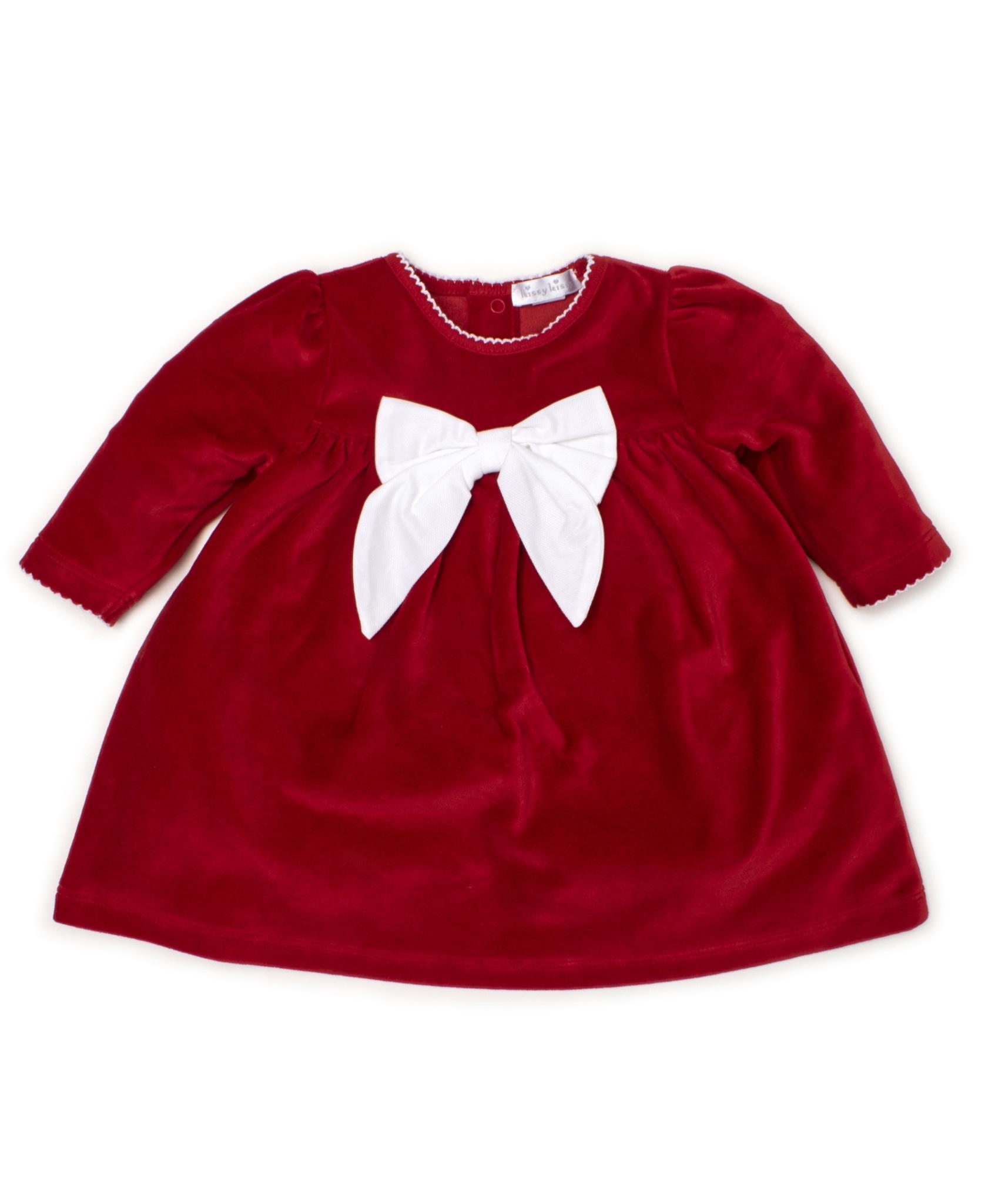 kissy kissy Kissy Kissy Santa Santics Velour Dress