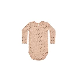 Quincy Mae Quincy Mae Bamboo Hearts Bodysuit