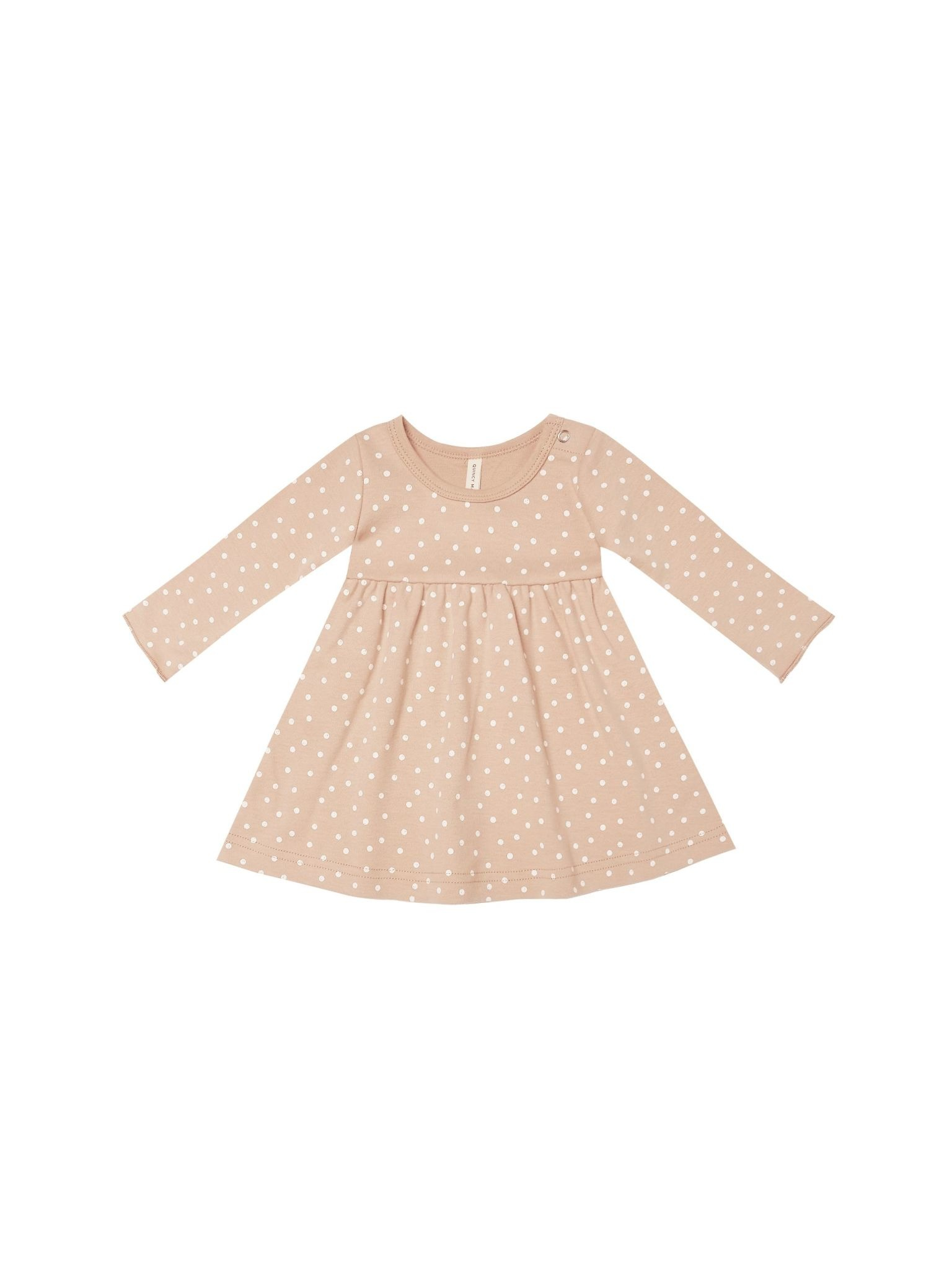 Quincy Mae Quincy Mae Jersey Long Sleeve Dots Dress