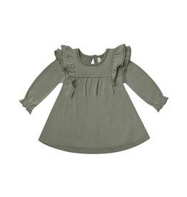 Quincy Mae Quincy Mae Long Sleeve Flutter Dress