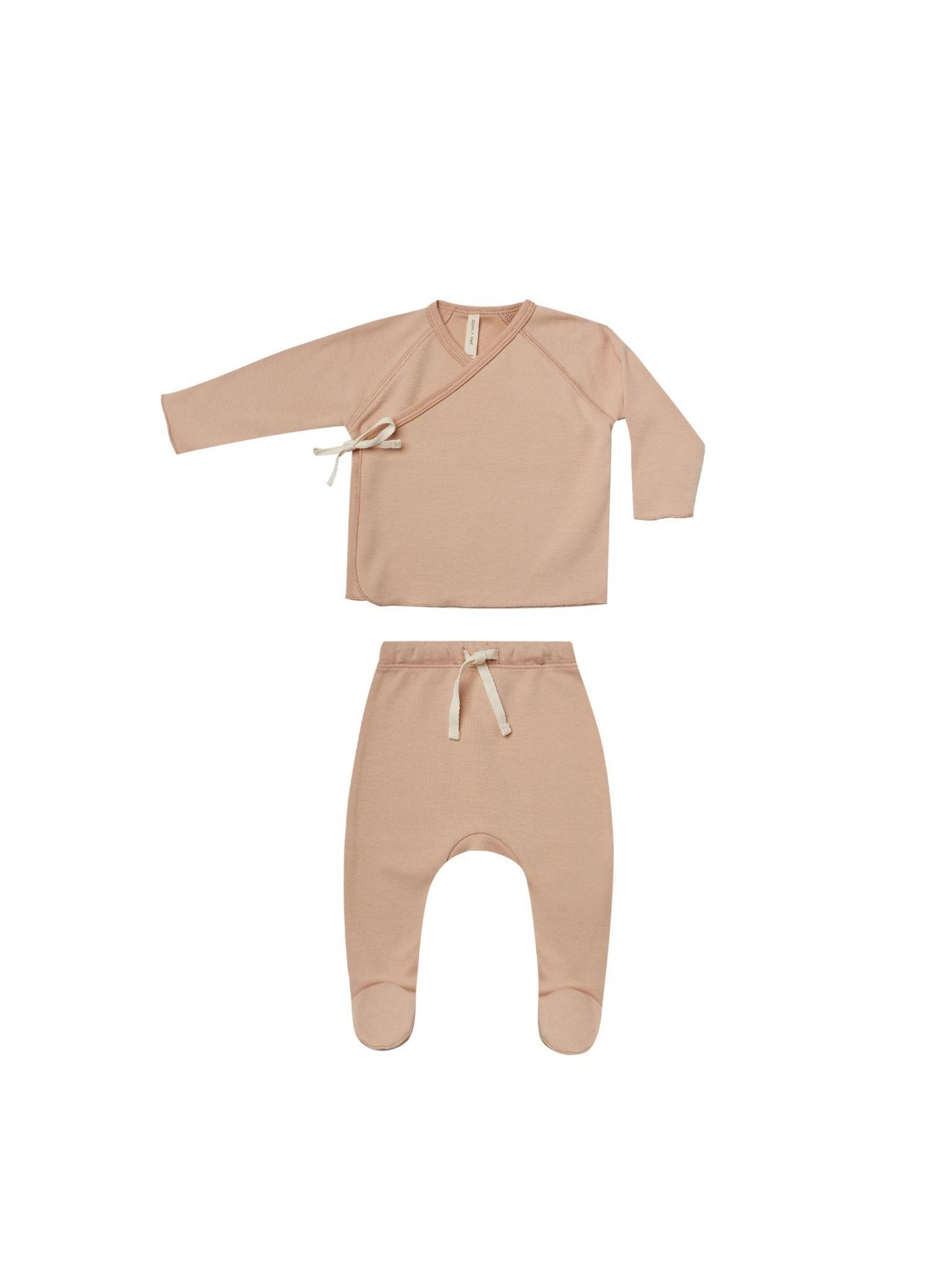 Quincy Mae Quincy Mae Wrap Top & Pant Set