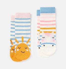 Joules Joules Neat Feet 2 Pack Character Socks