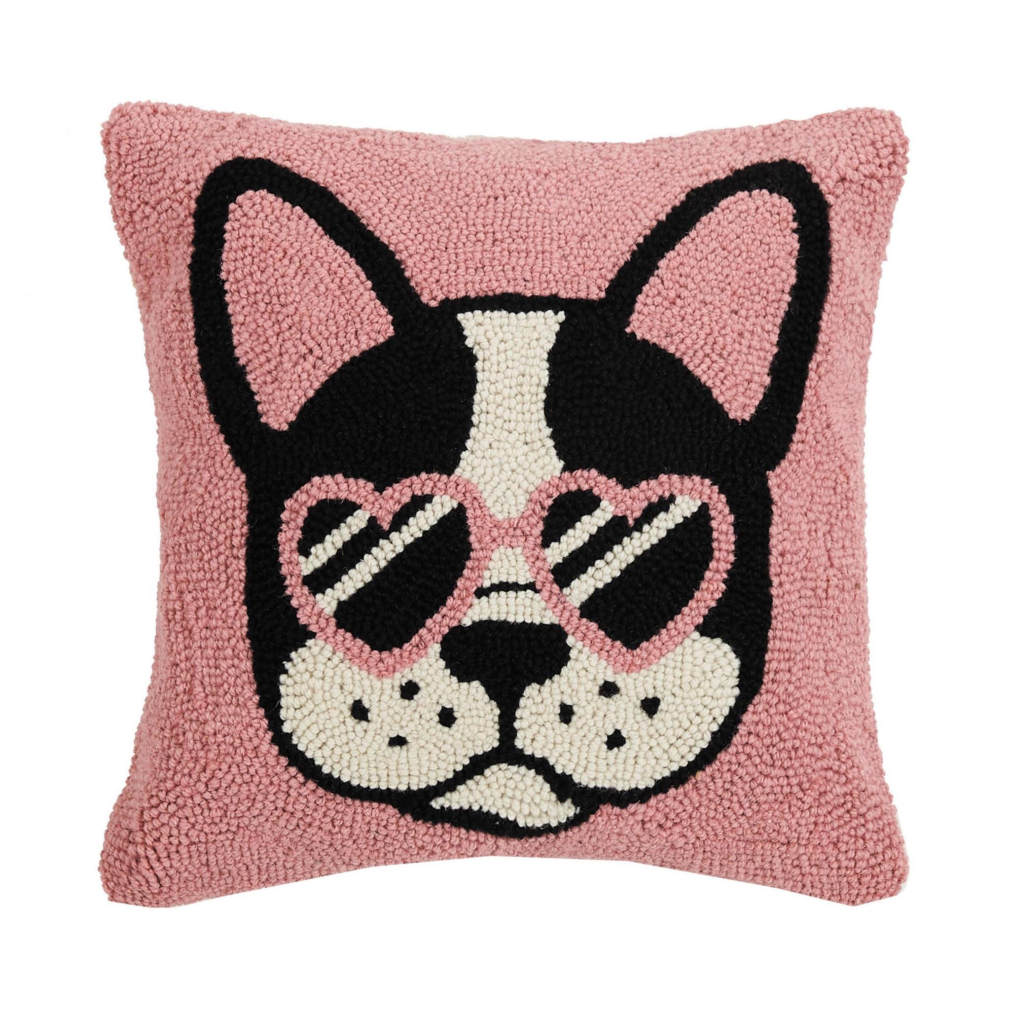 Pink Cool French Bulldog Hook Pillow