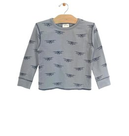 city mouse City Mouse Contrast Stitch Biplane Tee