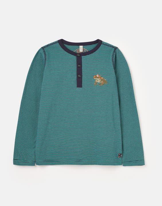 Joules Joules Island Henley Long Sleeve T-Shirt