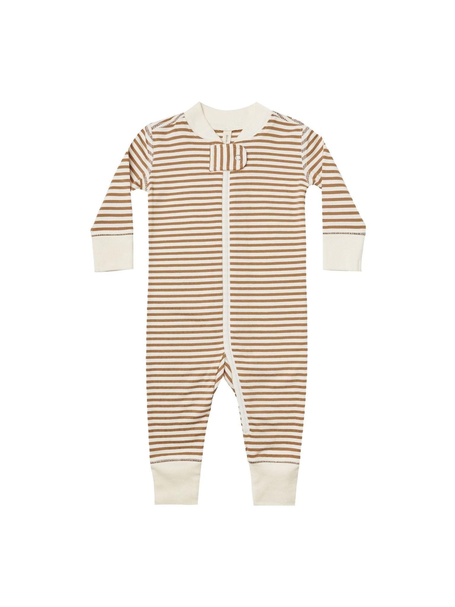 Quincy Mae Quincy Mae  Stripe Zip Long Sleeve Sleeper
