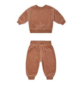 Quincy Mae Quincy Mae Drop Shoulder Sweatshirt & Sweatpant Set
