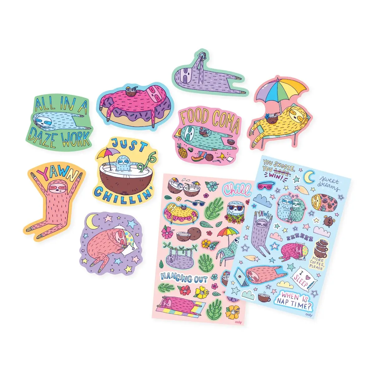 ooly Ooly Sleepy Sloths Scented Stickers
