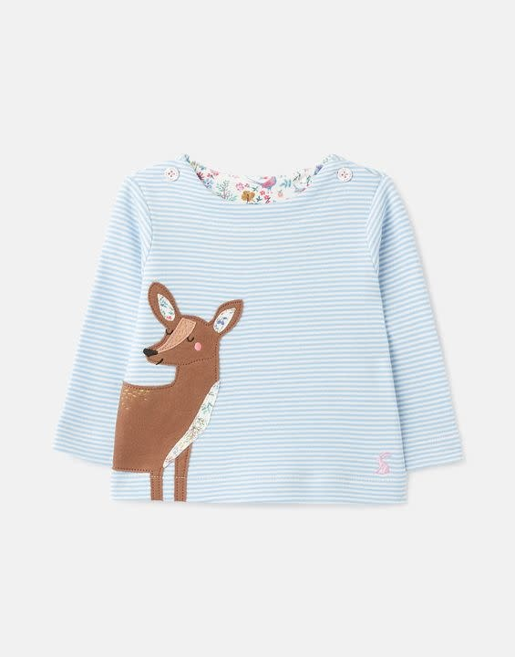 Joules Joules Harriet Organically Grown Cotton Applique Top