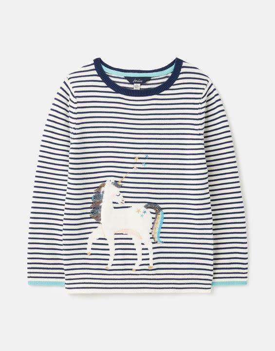 Joules Joules Miranda Artwork Knitted Sweater