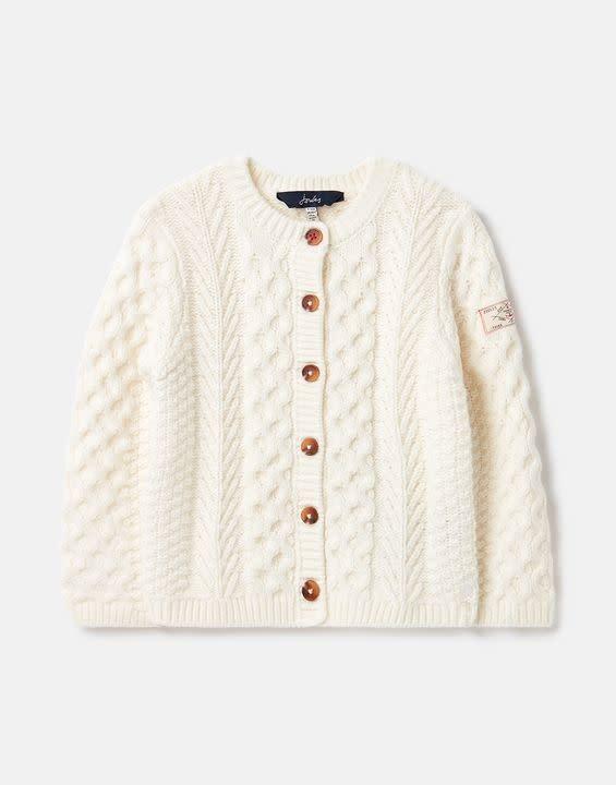 Joules Joules Rhett Aran Knit Cardigan