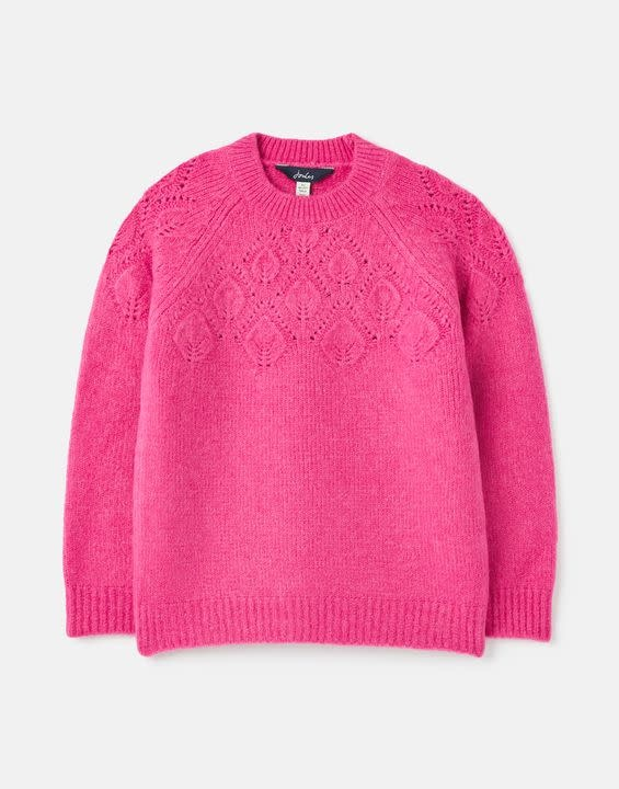 Joules Joules Kora Leaf Knit Sweater