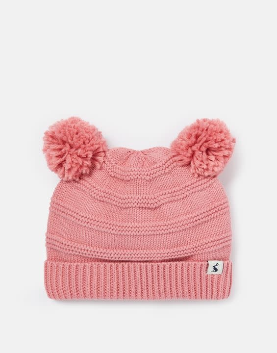 Joules Joules Pom Pom Organically Grown Cotton Knitted Pom Hat