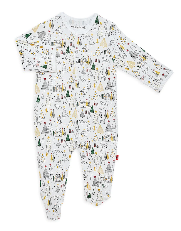 Magnificent Baby Magnetic Me Silent Night Holiday Modal Magnetic Footie