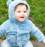 Magnificent Baby Magnetic Me Dusk Blue Marine Multi-Stripe So Soft Minky Jacket
