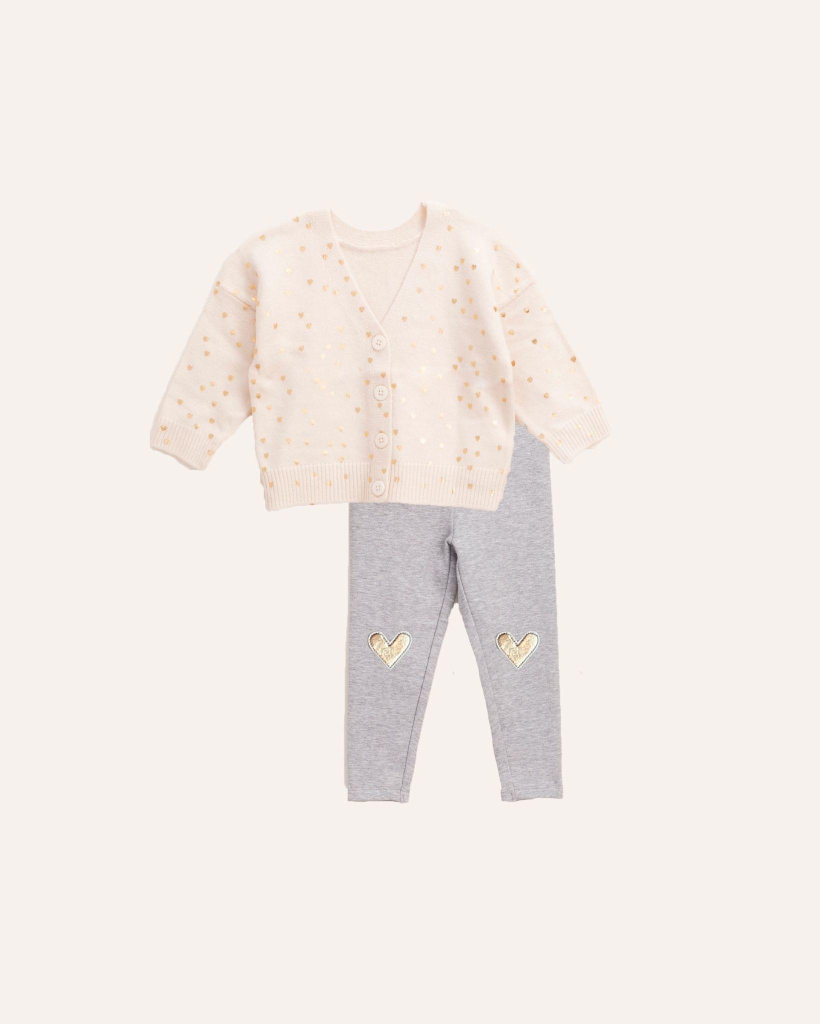 Splendid Splendid Golden Hearts Sweater Set