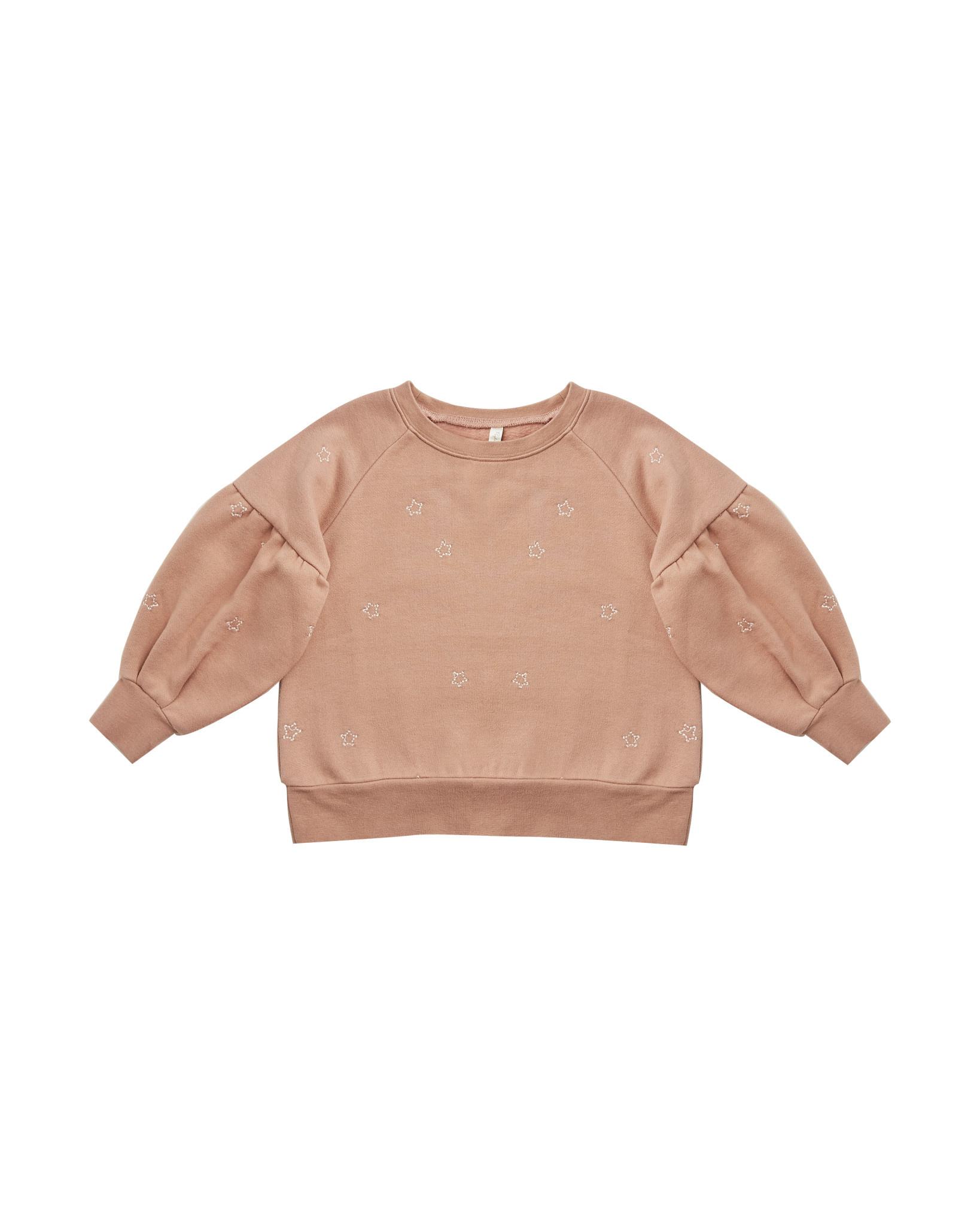 Rylee and Cru Rylee & Cru  Puff Sleeve Star Sweatshirt