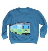 Sidetrack Sidetrack Boston MBTA Green Line Trolley Applique Sweatshirt